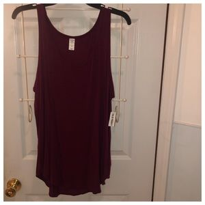 NWT Old Navy wine Luxe tank, Large